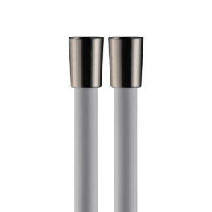 Flessibile PVC Bianco Opaco 150cm, Coni Ottone Nickel spazzolato
