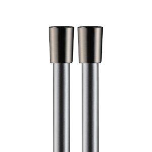 Flessibile PVC Argento 150cm, Coni Ottone Nickel spazzolato