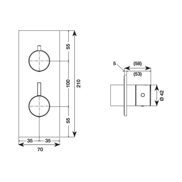 Parte esterna tondo miscelatore verticale - Con piastra