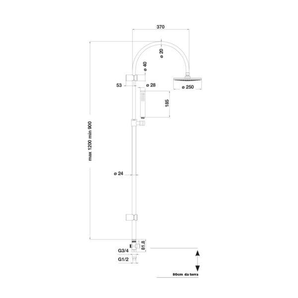 Chimera Tele Cromo Deviatore
